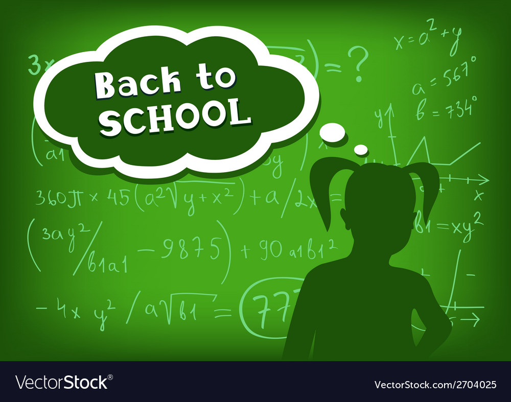 Back to school girl speech and thought vector