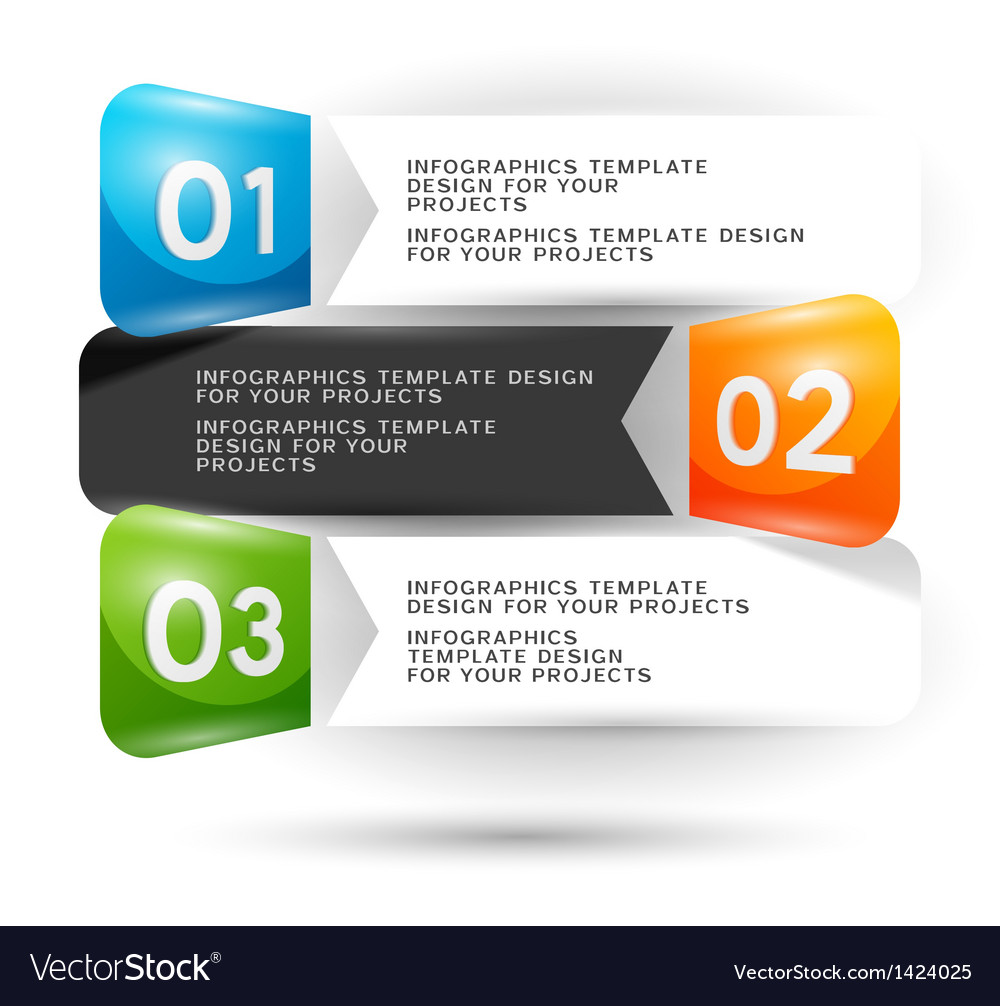Infographics design with numbered elements vector