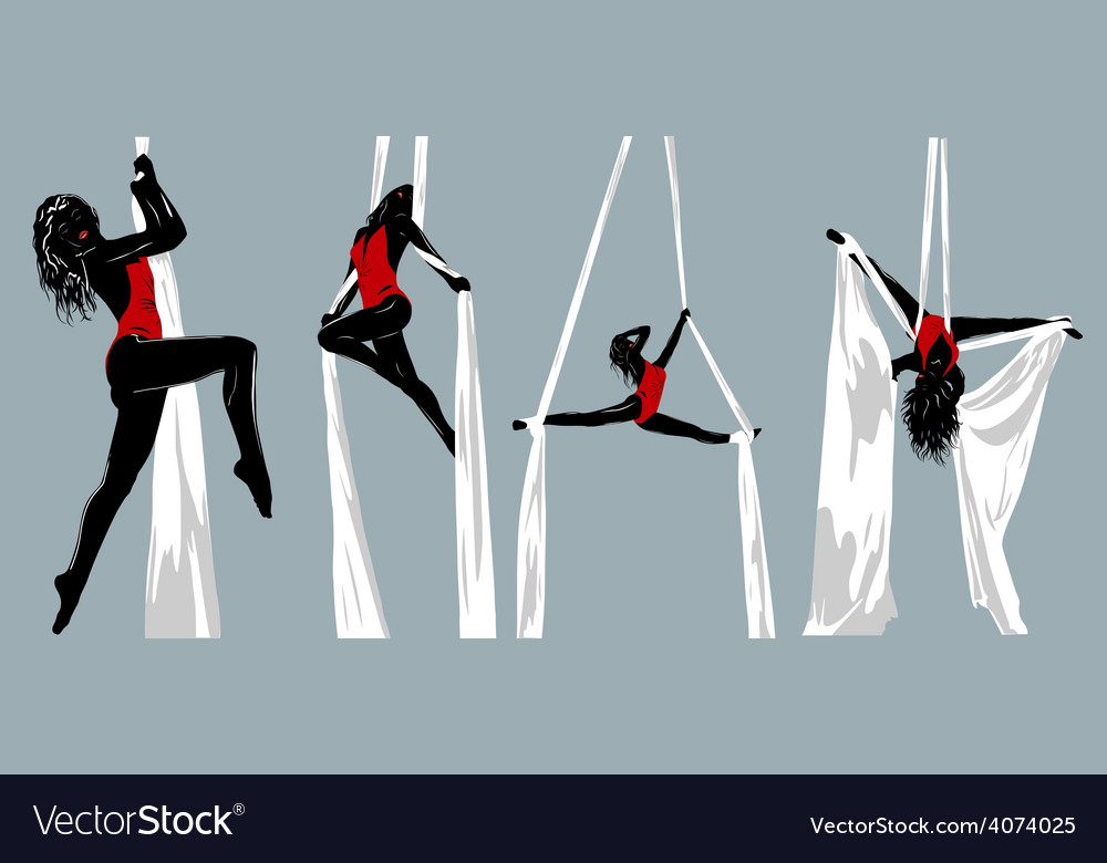 Woman gymnast vector