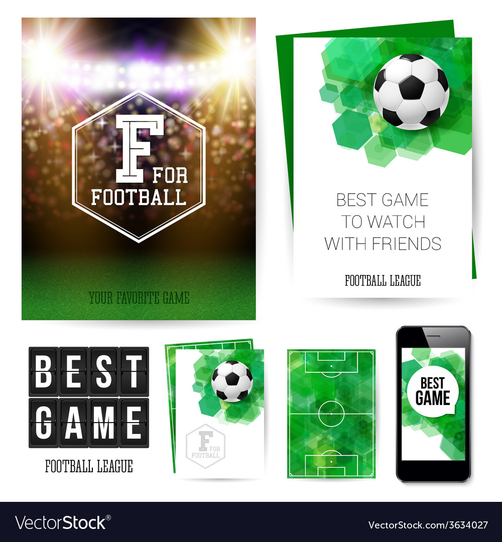 Identity design for your football club set of vector