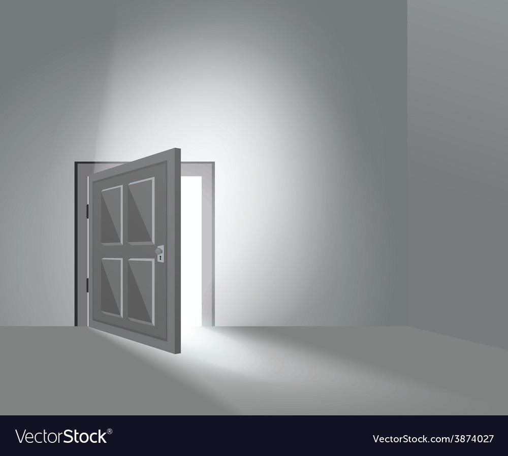 Room door open vector