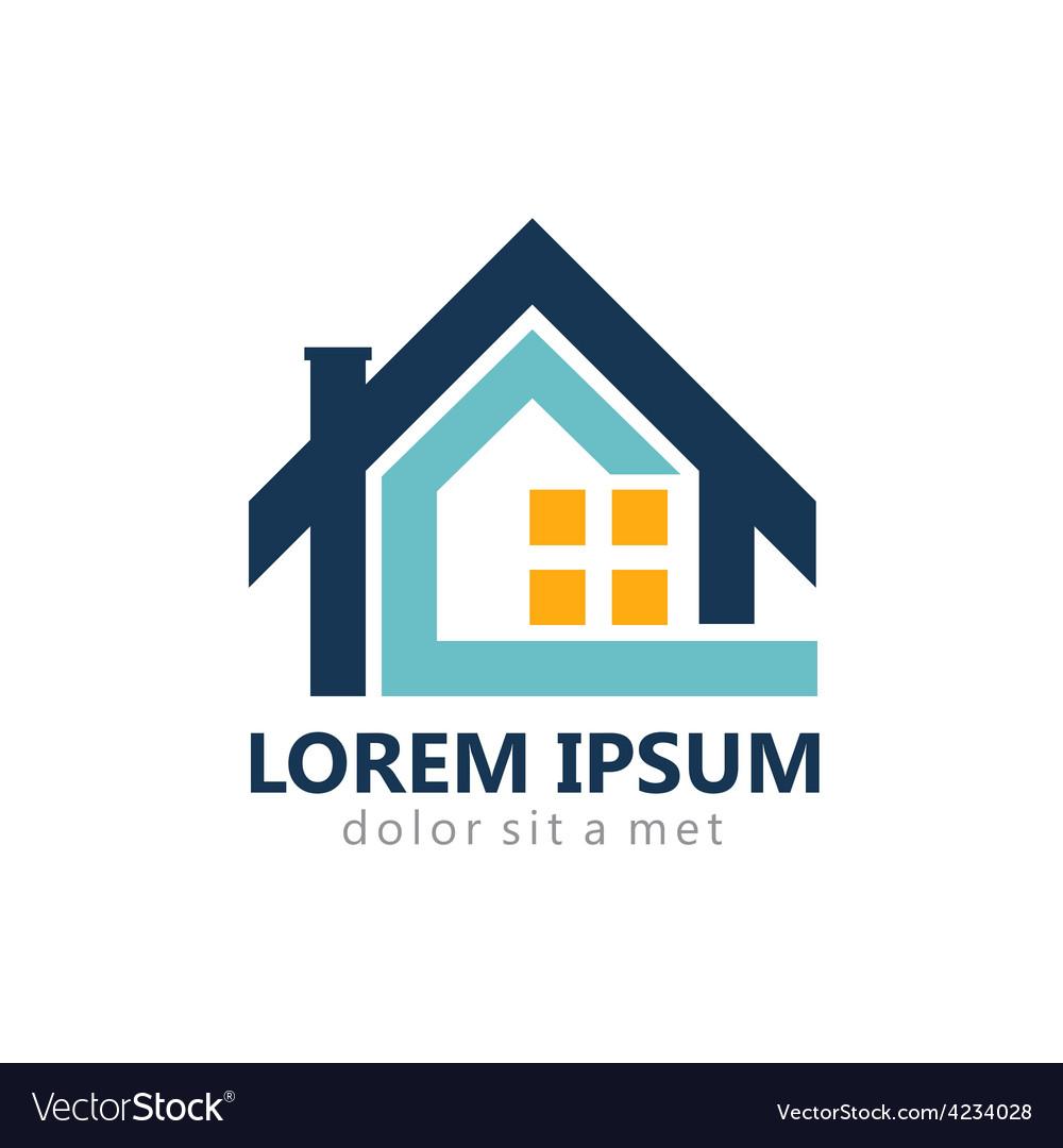 Home realty construction logo vector