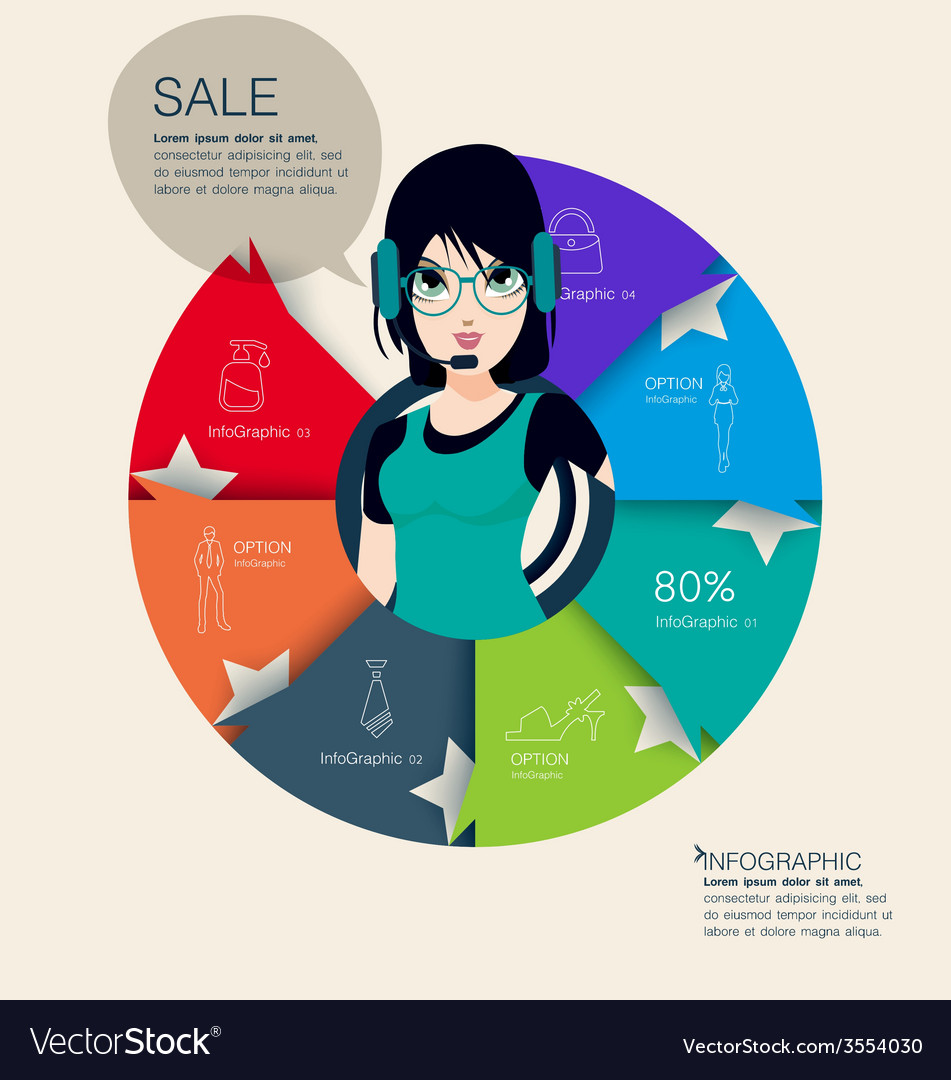 Fashion graphic information vector