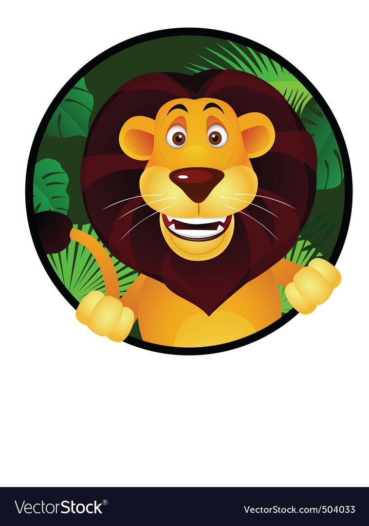 Lion cartoon vector