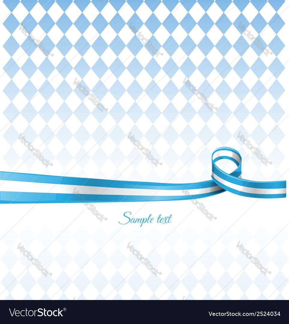 Bavarian ribbon flag on background vector