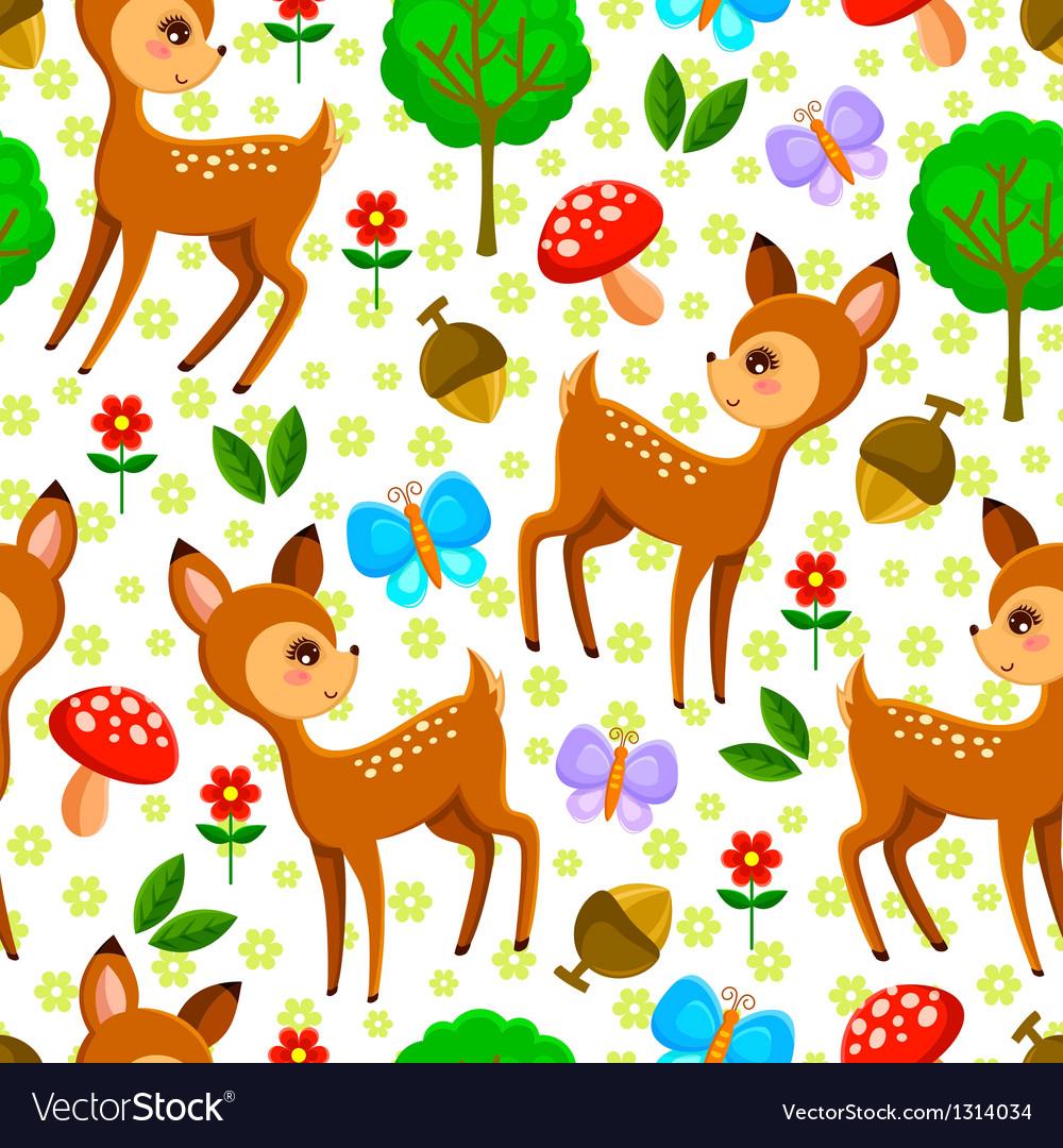 Deer pattern vector
