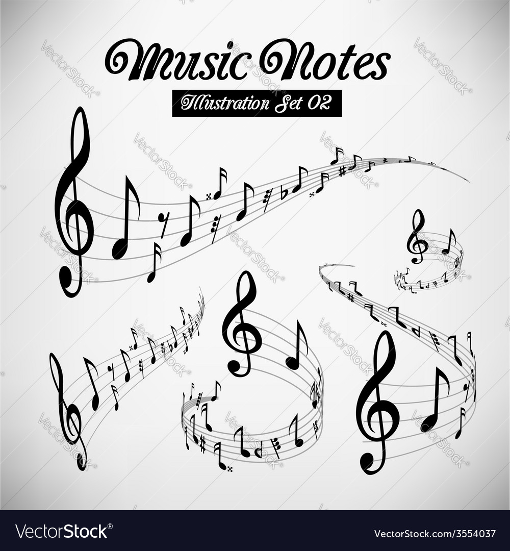 Musical staves vector