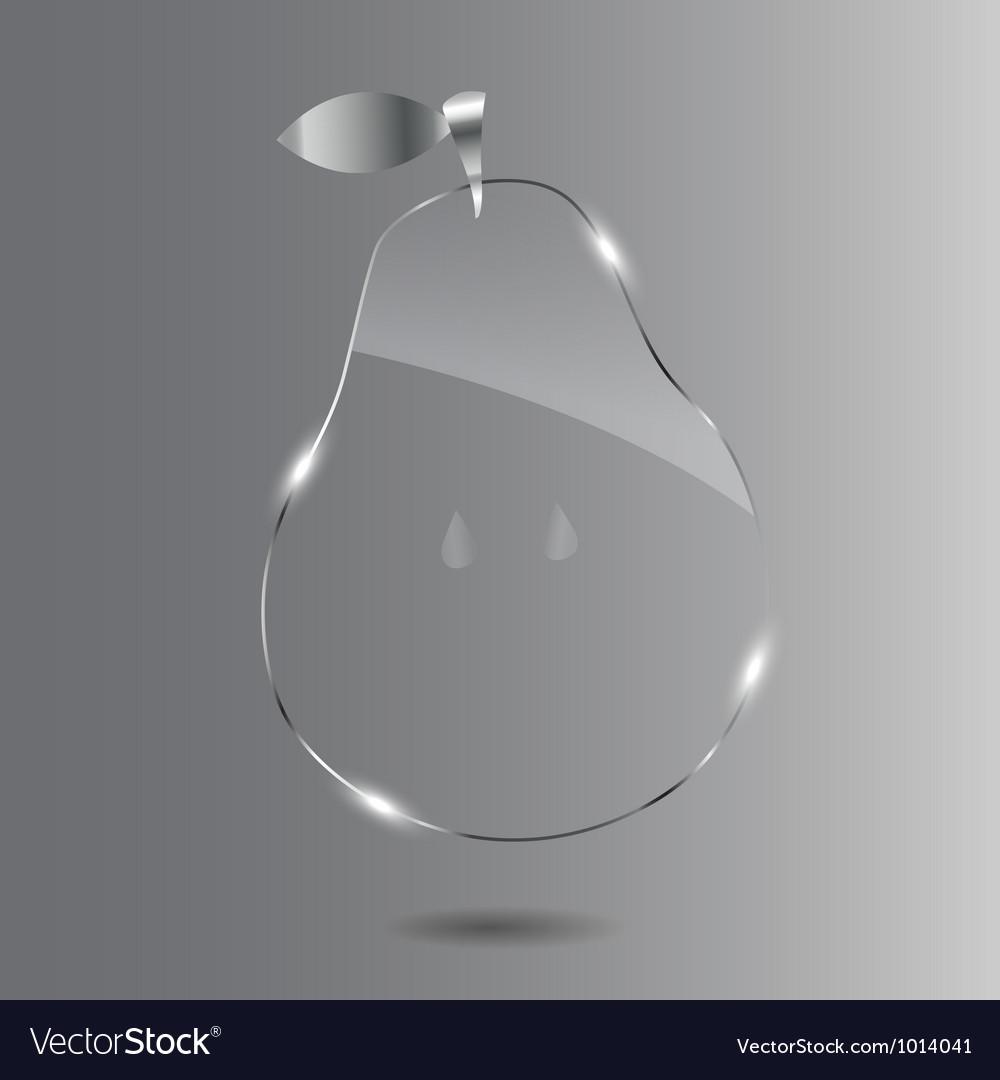 Glass pear beautiful vector