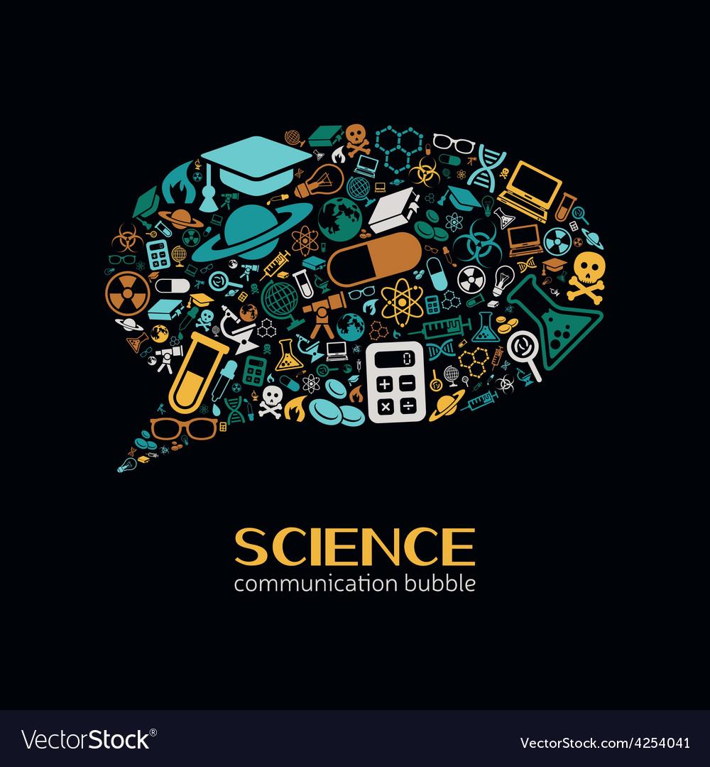 Science communication bubble vector