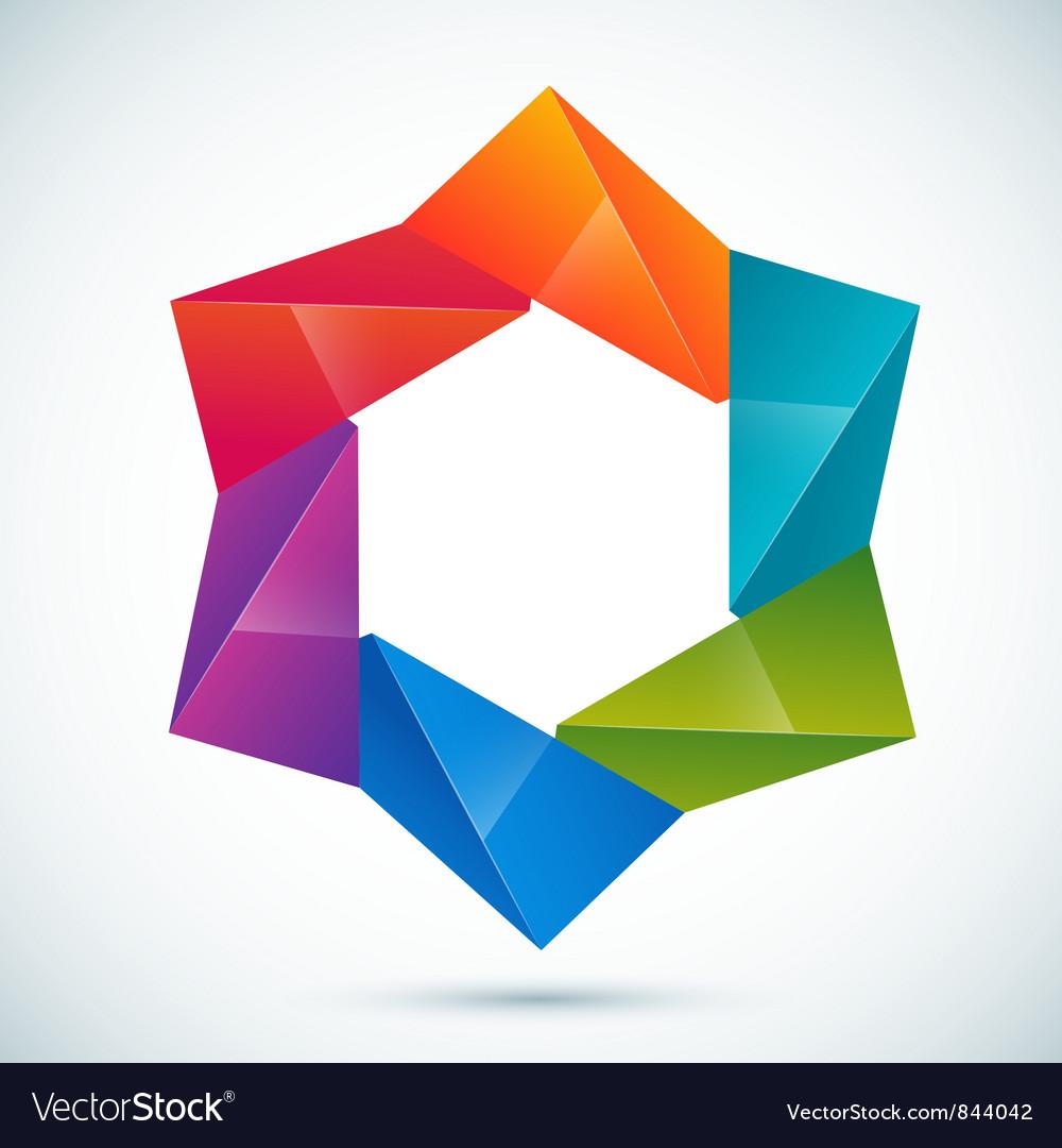Abstract shape - star vector