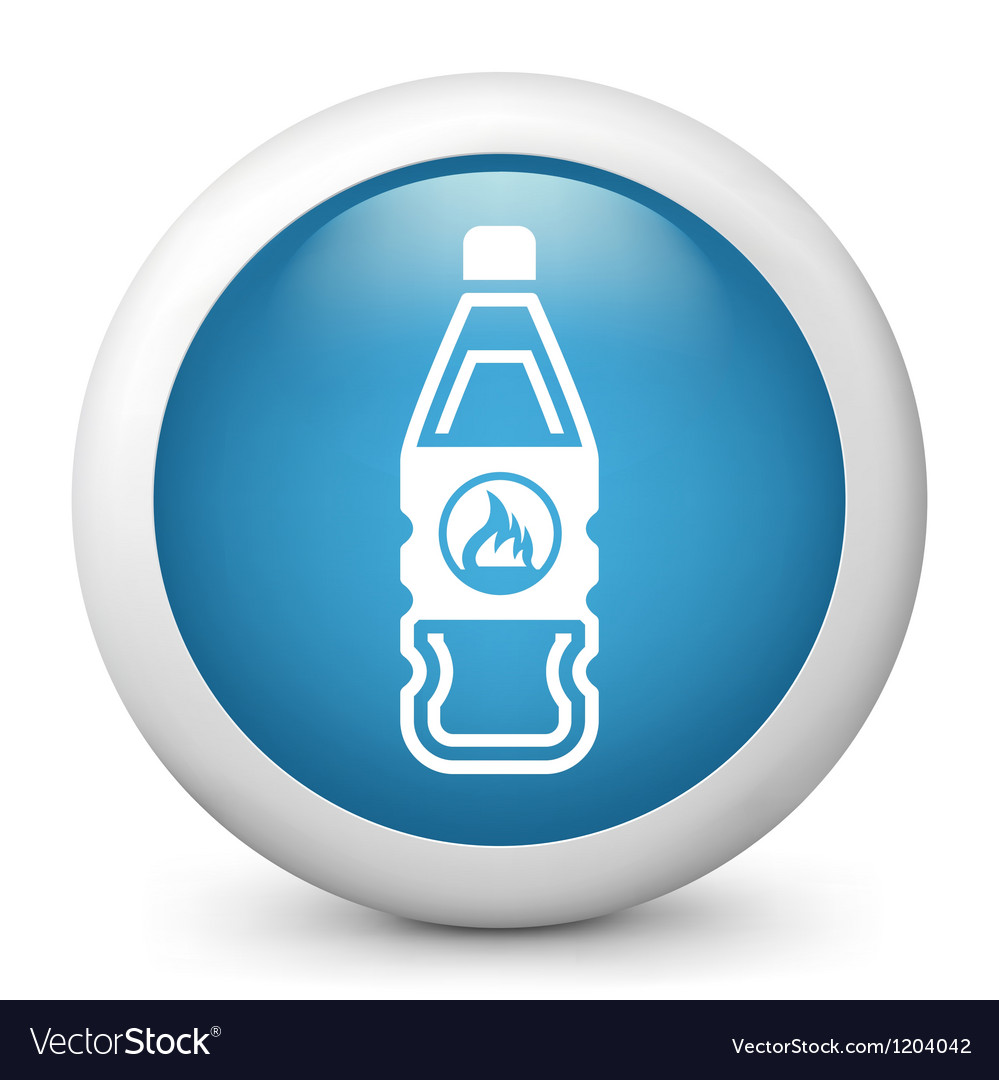 Flammable bottle glossy icon vector
