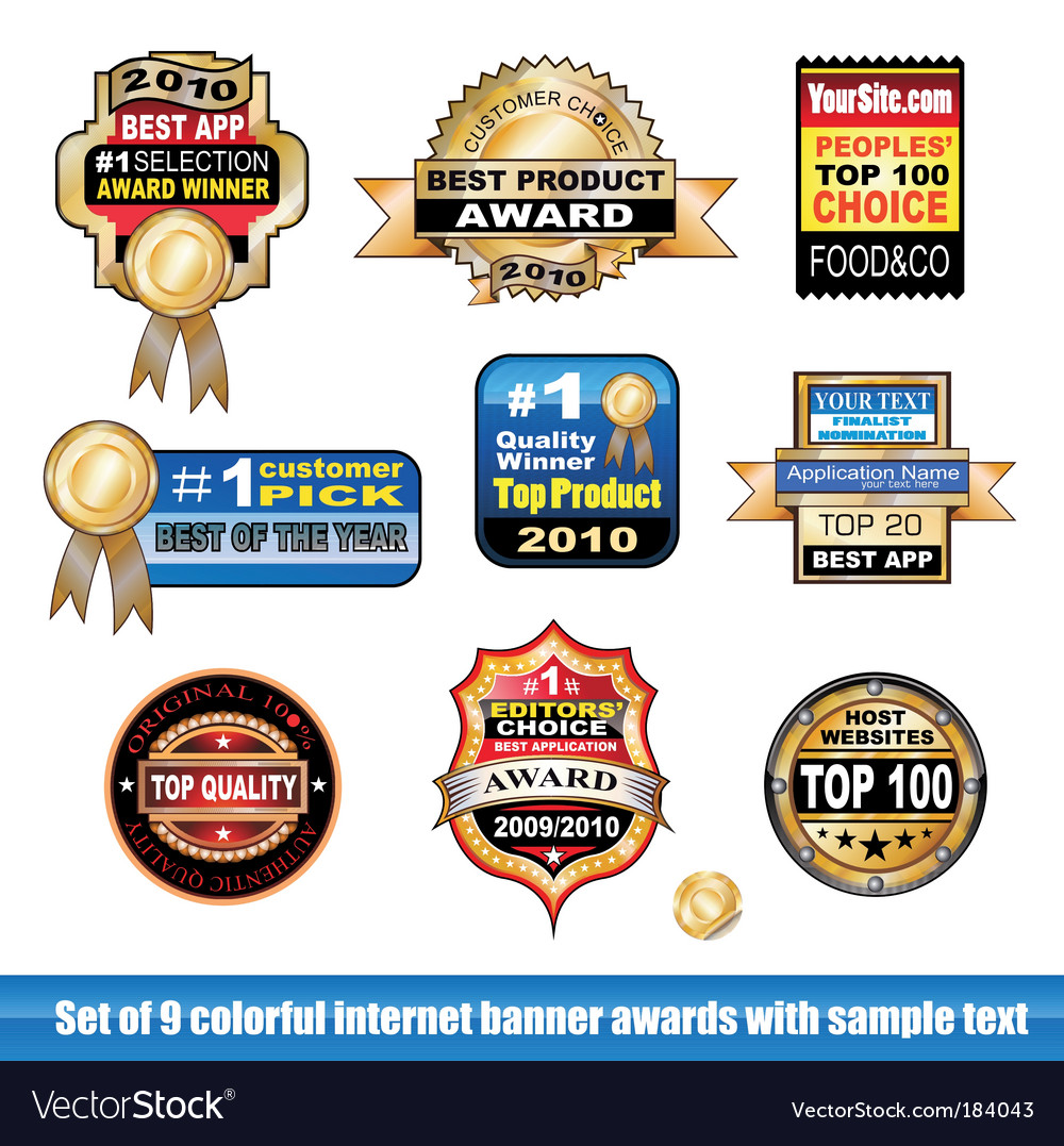 Certification stickers vector