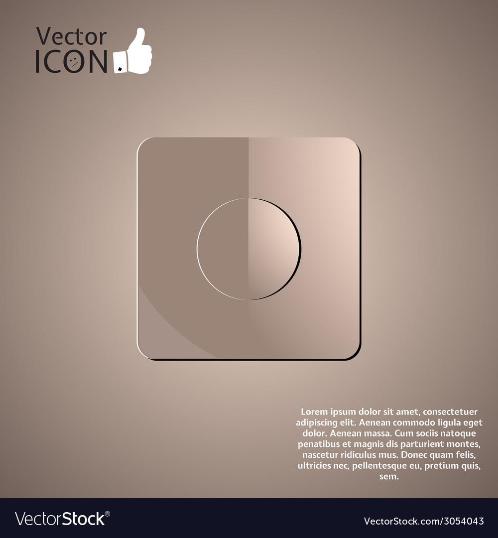 Recording icon as a button vector