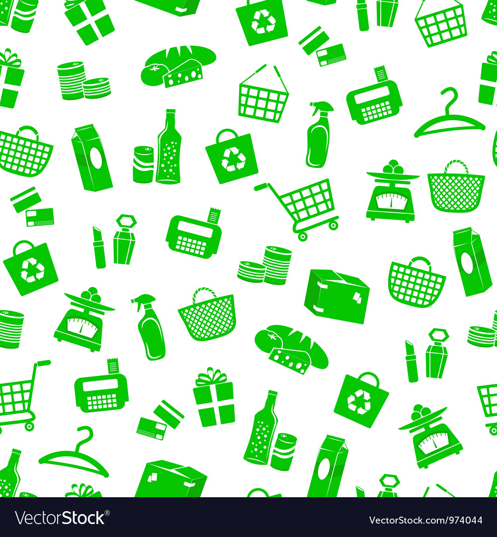 Shopping pattern vector