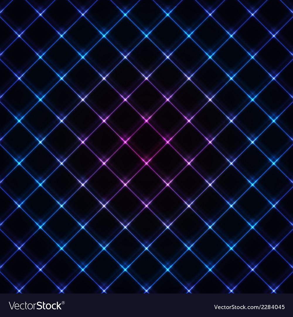 Abstract neon light black texture vector