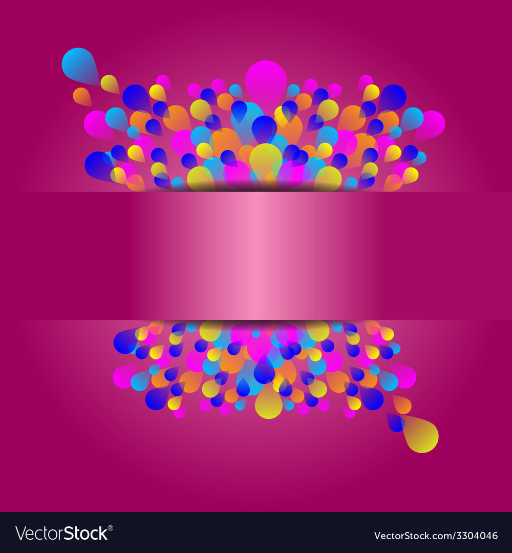 Beautiful holiday event card with colorful balloon vector