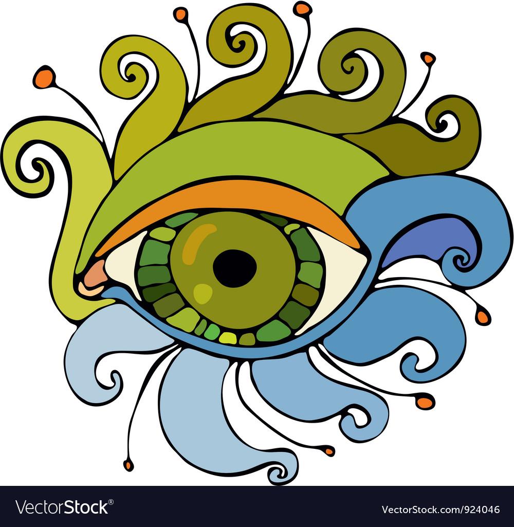 Eye isolated vector