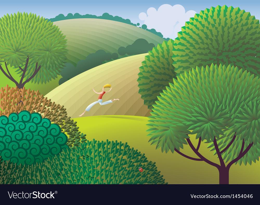Natural runner vector