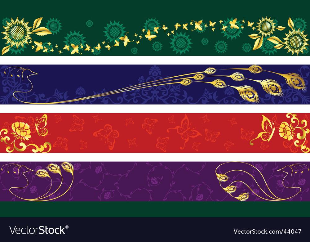 Indian sari banners vector
