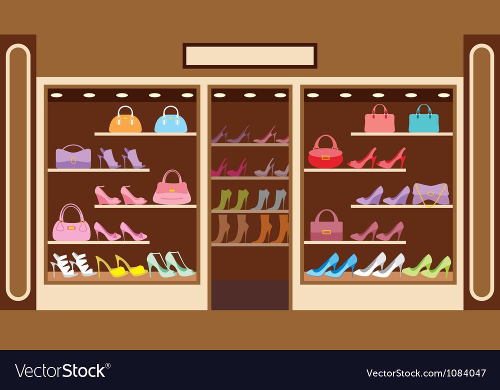 Shop of shoe vector