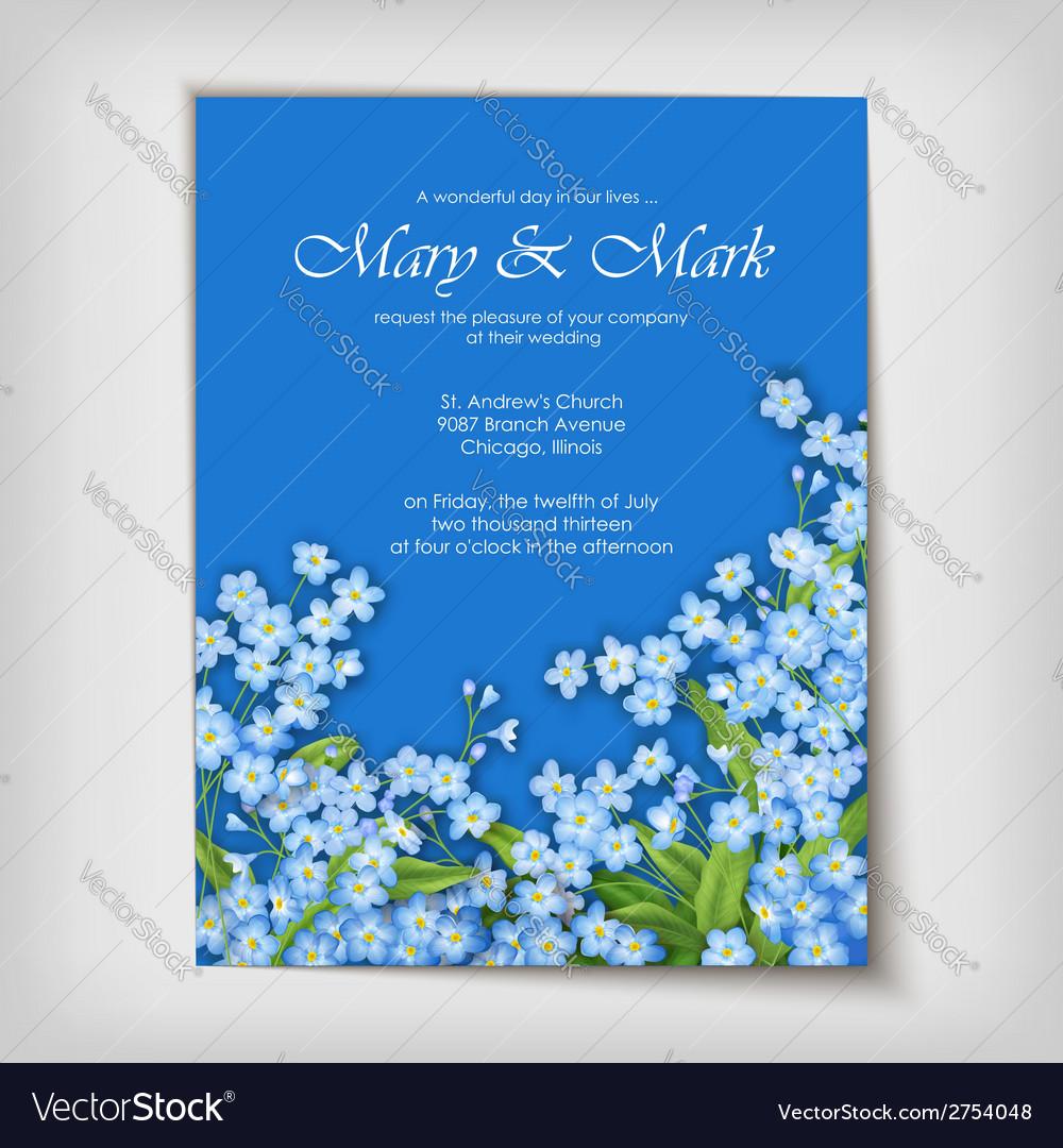 Floral decorative wedding or invitation design vector