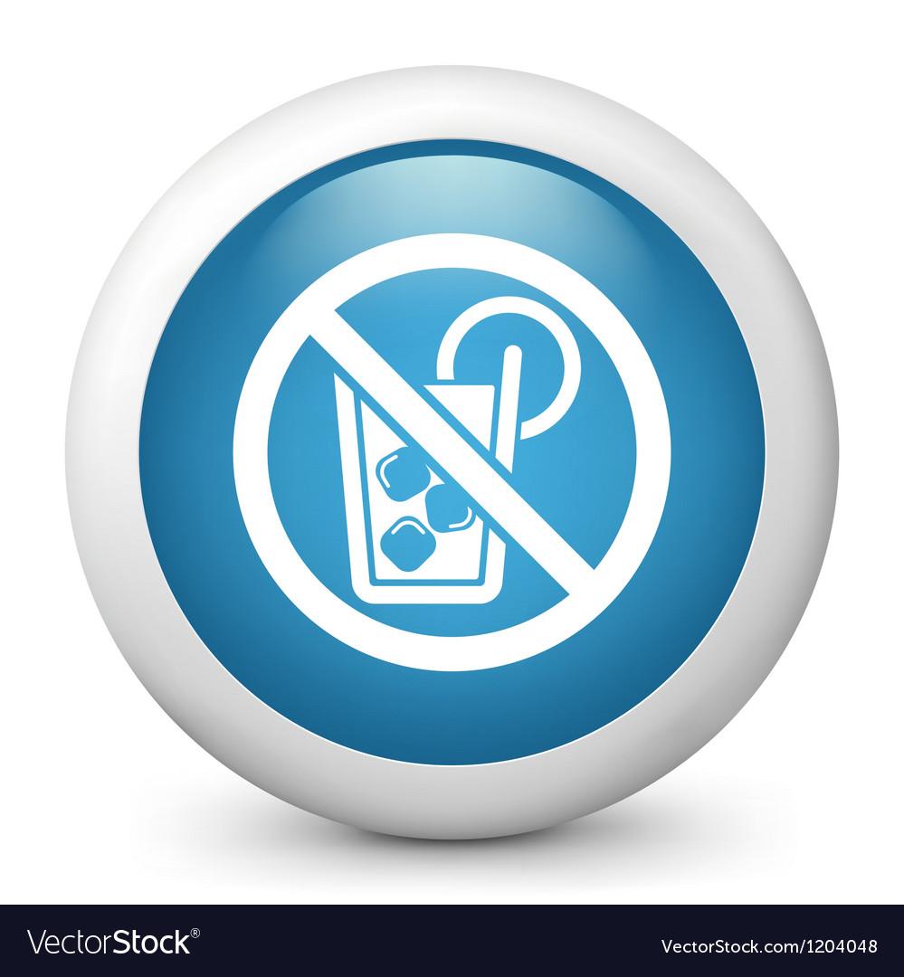 No alcohol glossy icon vector