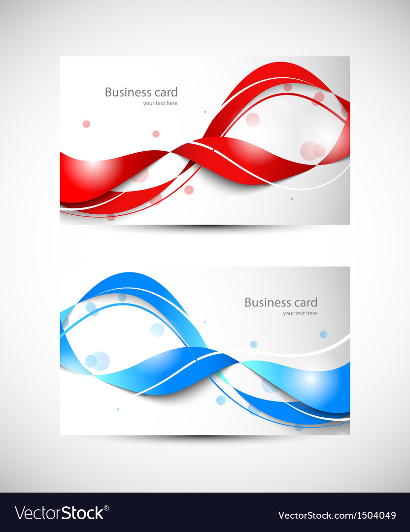Two business cards vector