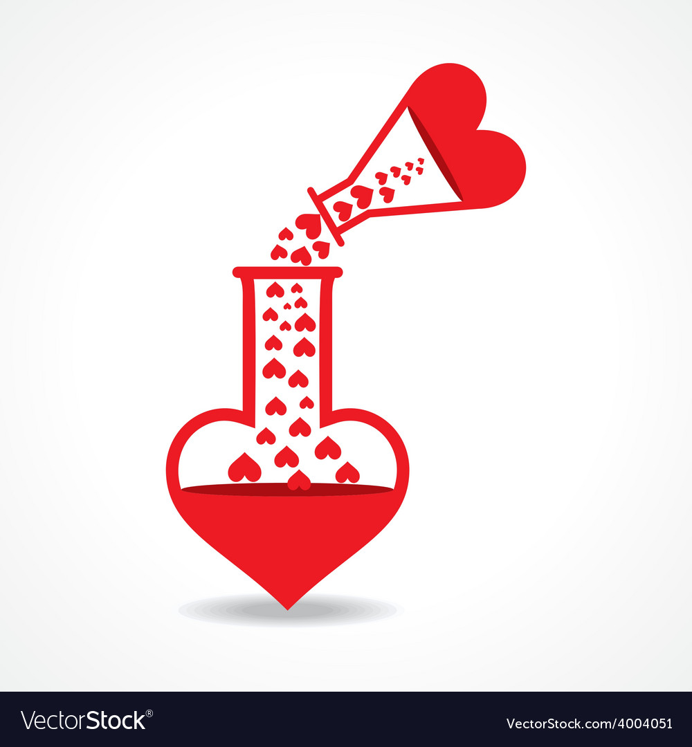 Chemistry of love concept stock vector