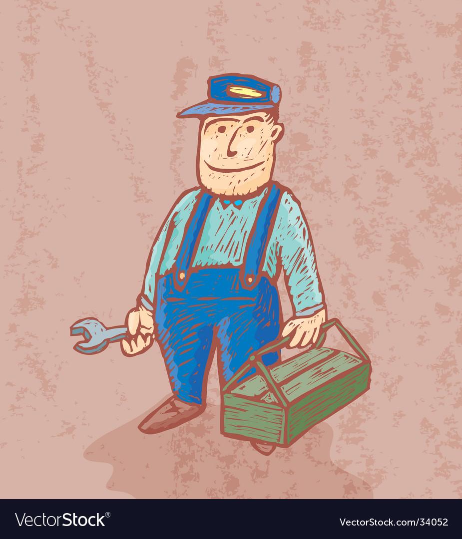 Good plumber vector