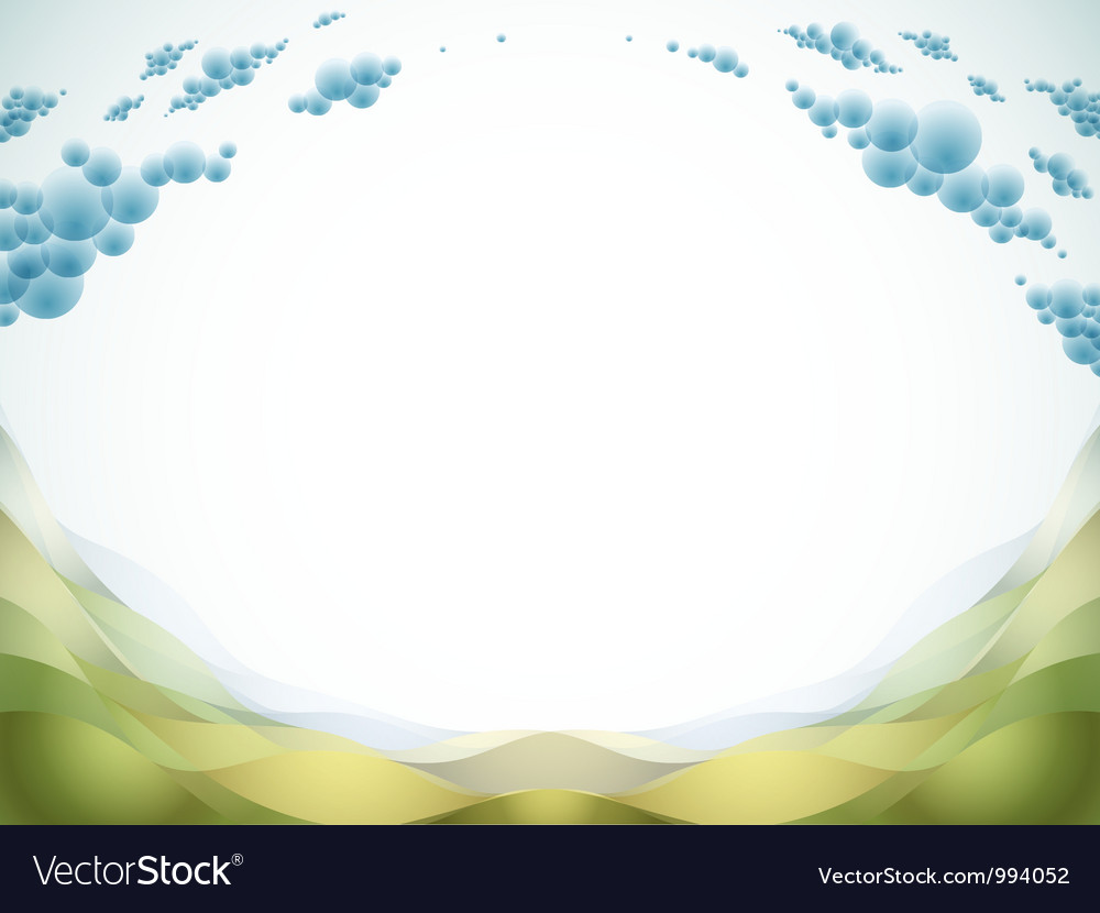 Landscape and copy space vector