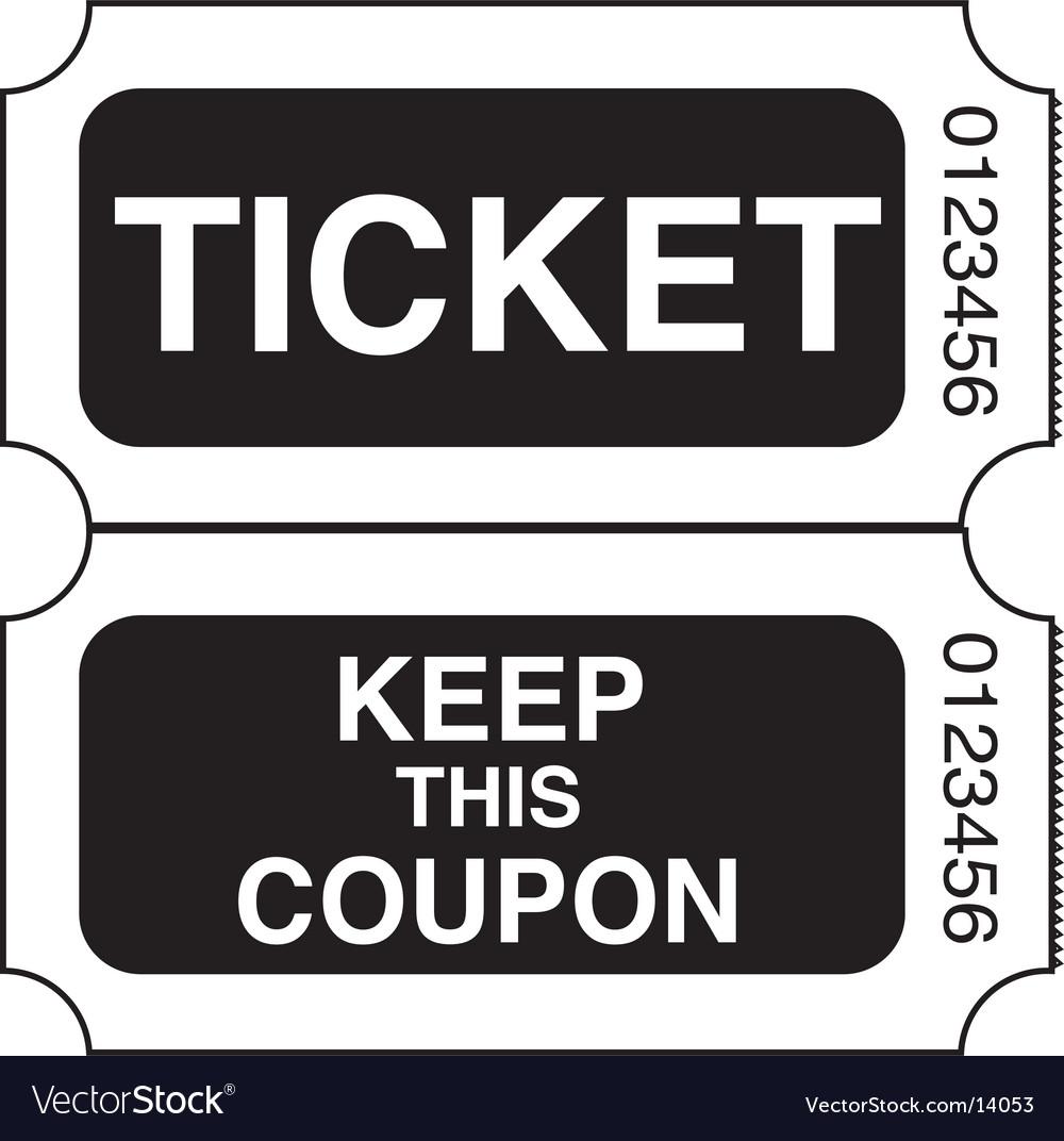 Ticket stub vector