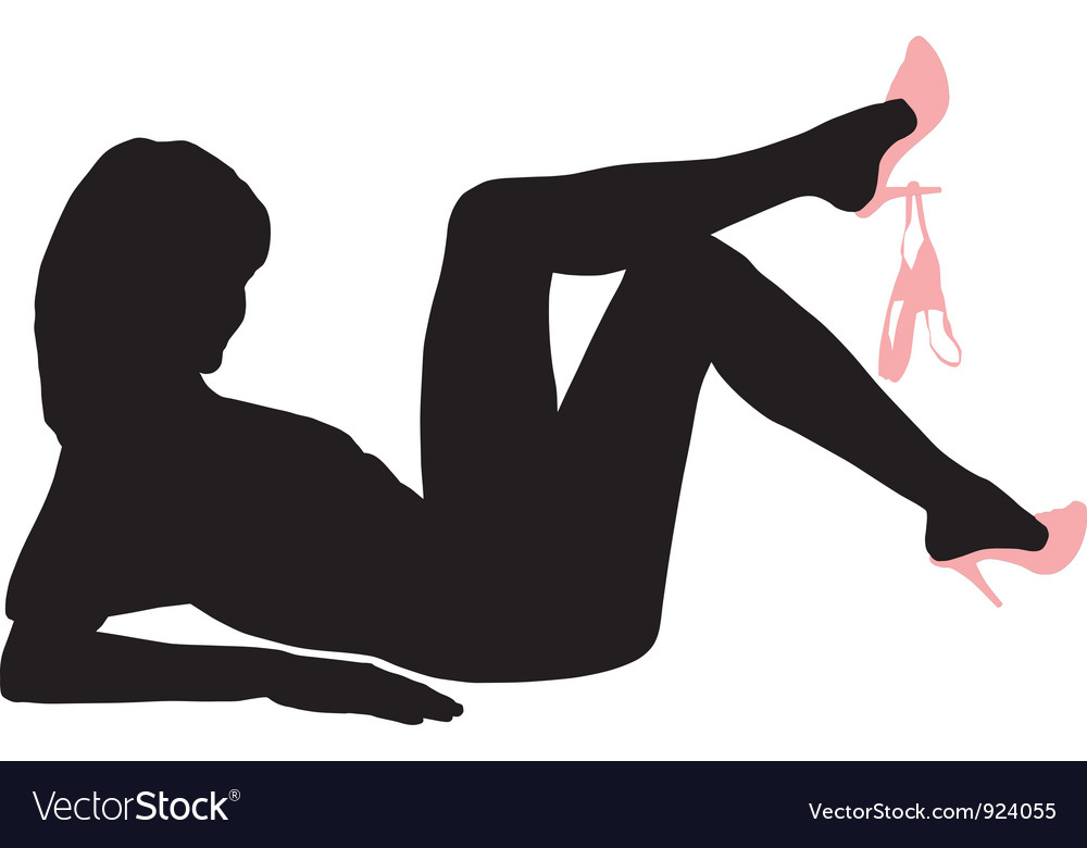 Sensual woman lying on her back vector