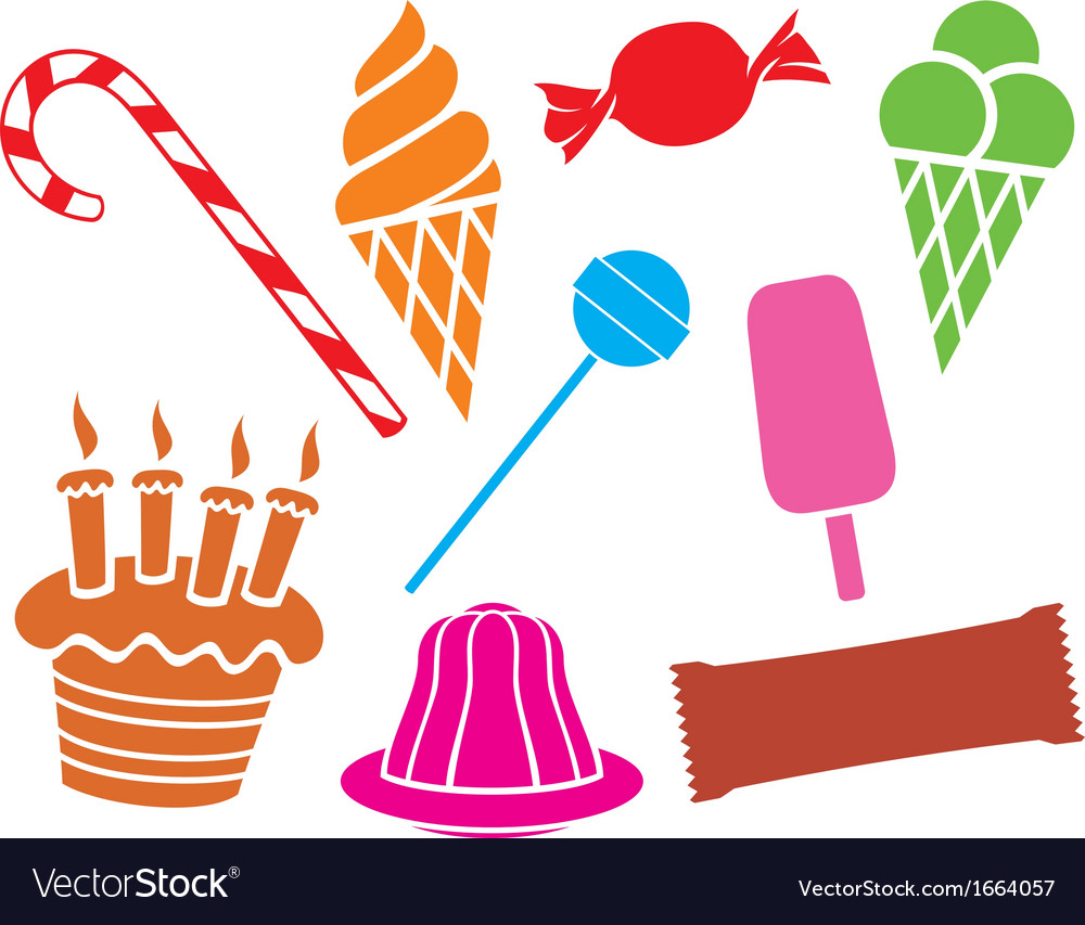 Sweets and candies collection vector
