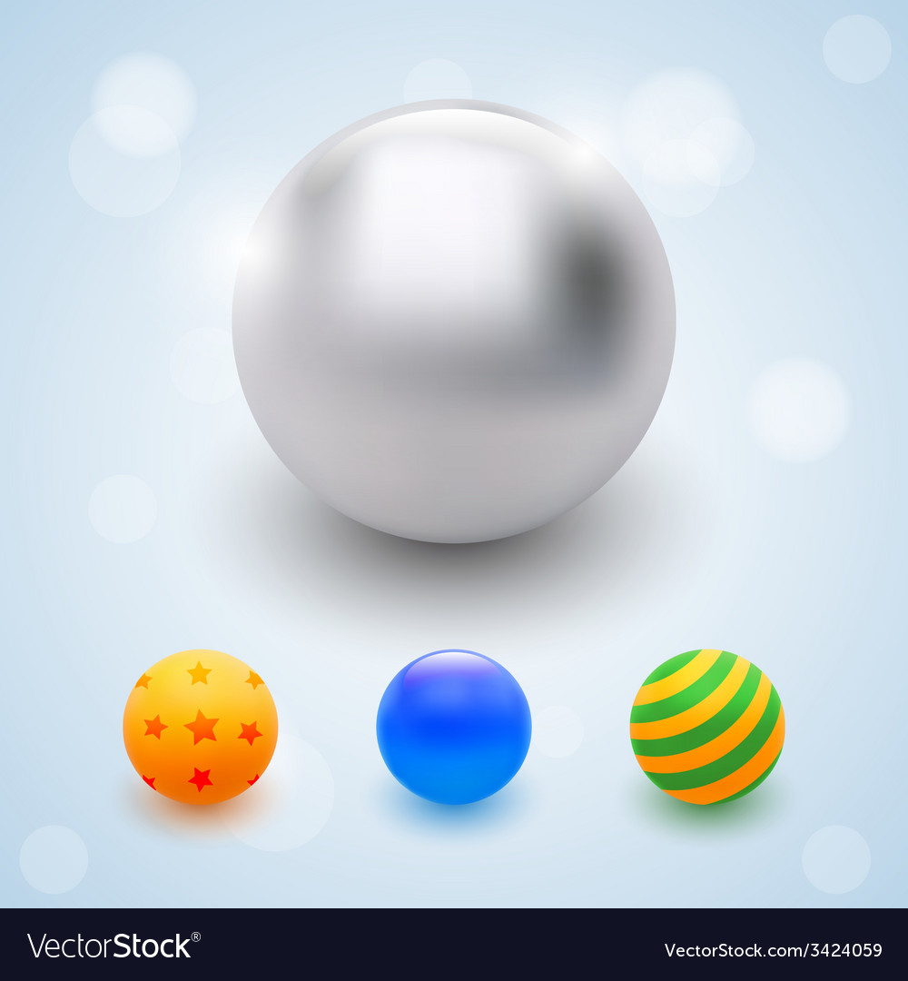 Abstract multicolored balls celebrate beads vector