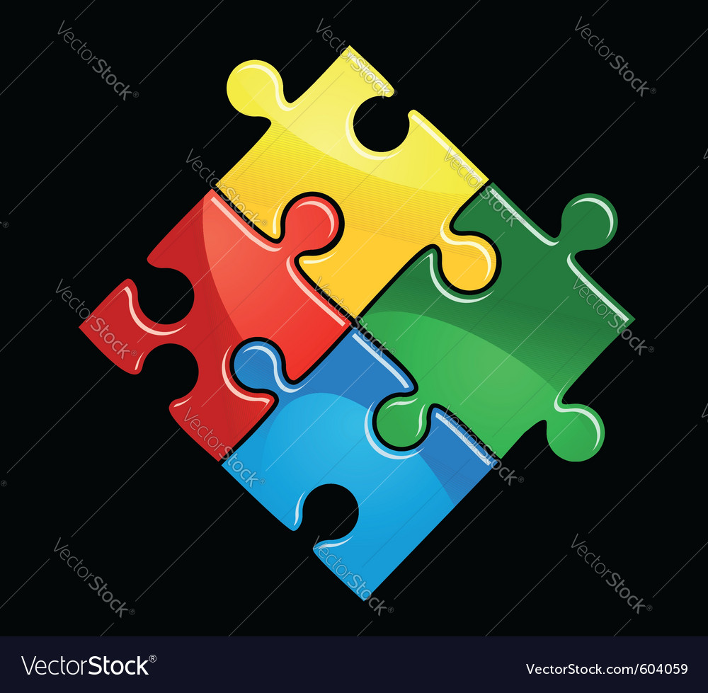 Puzzle game vector