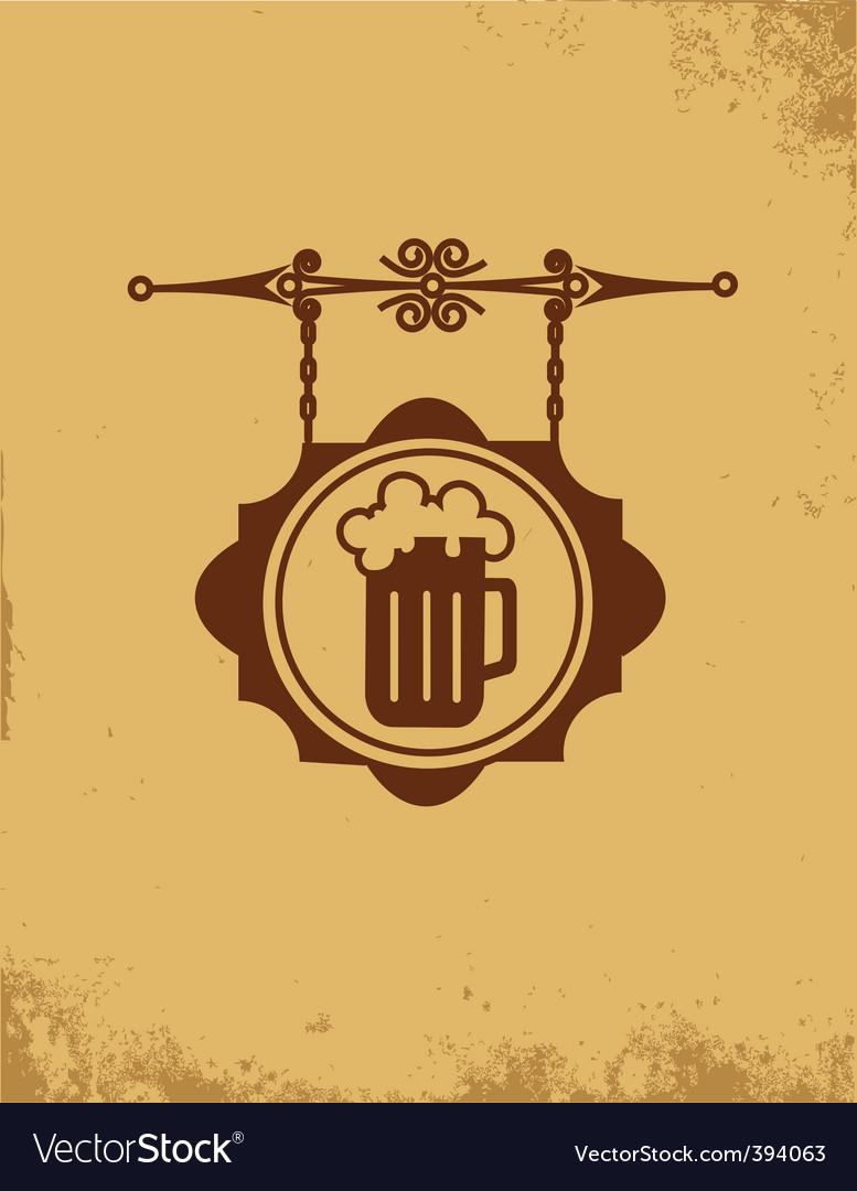 Vintage bar sign post vector