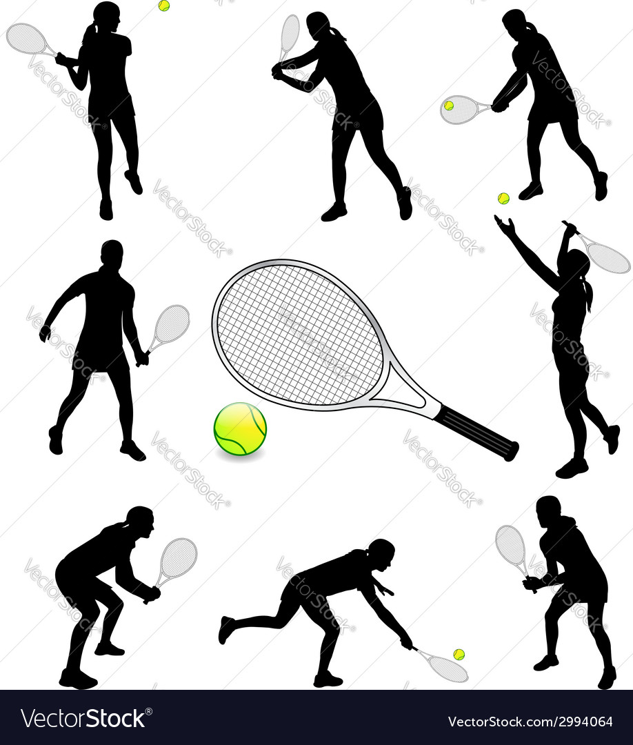 Tennis player vector