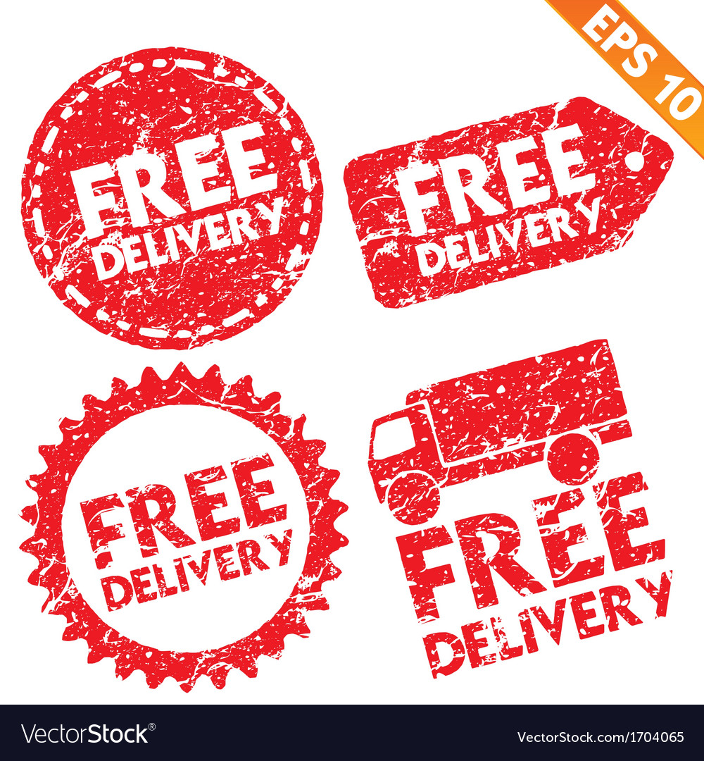 Stamp sticker free shipping tag collection - vector