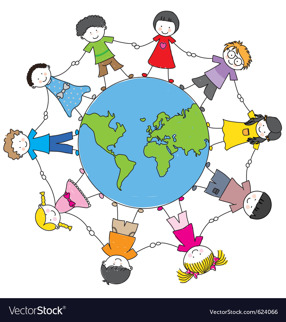 Children from different cultures vector