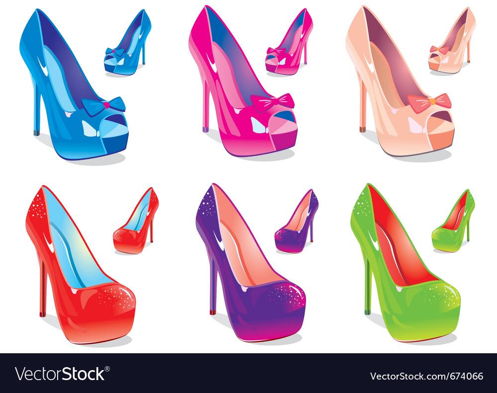 Women shoes vector