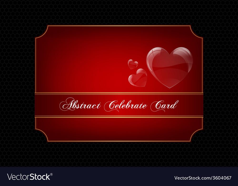 Red decorative celebration card vector