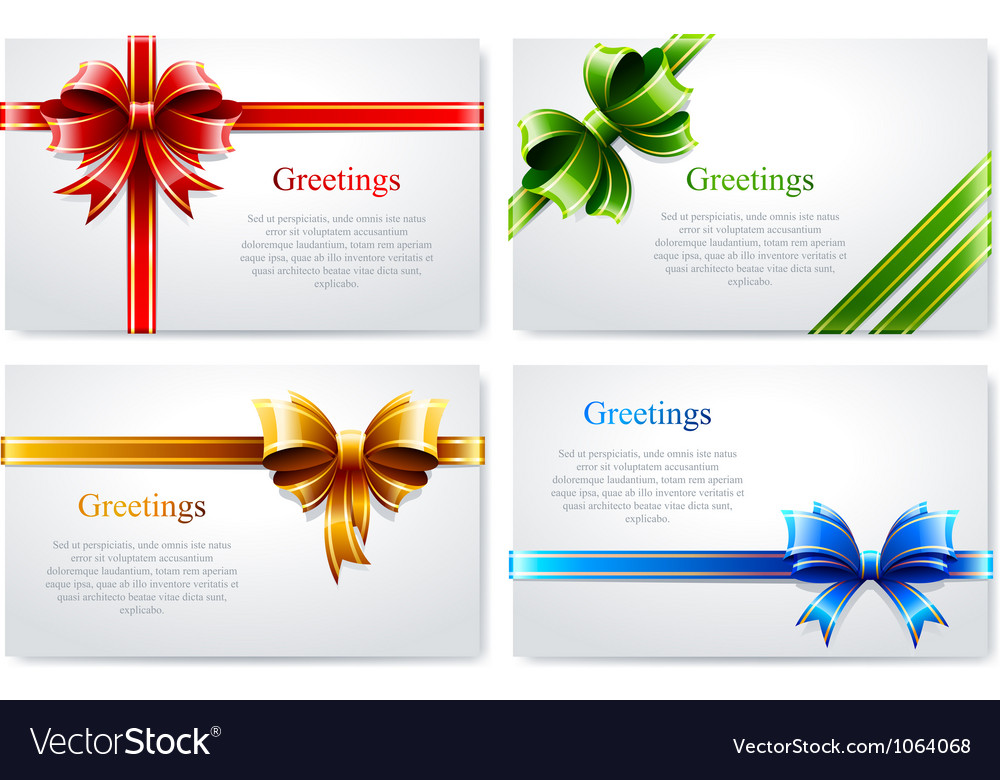 Beautiful business cards vector