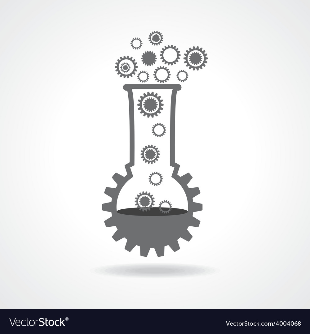 Mechanical lab concept stock vector
