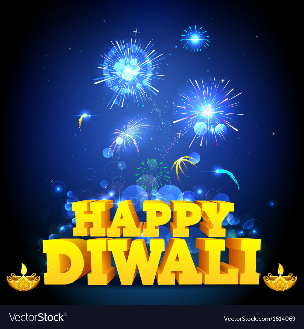 Diwali night vector
