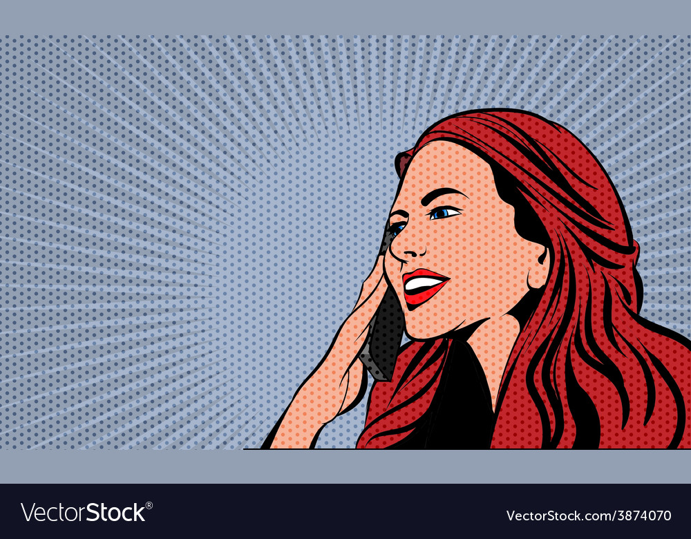 Pop art comics woman vector