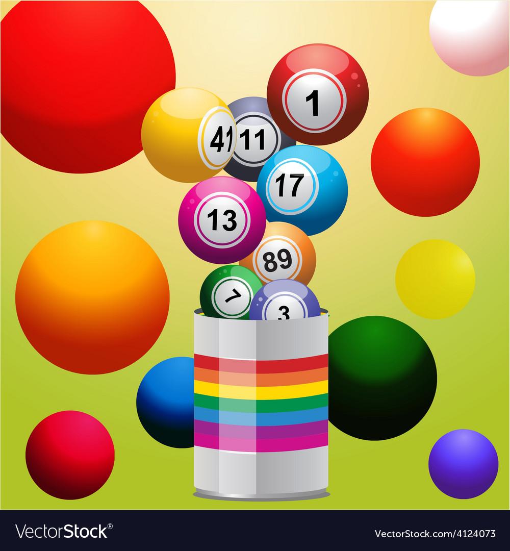 Bingo balls from paint tin vector