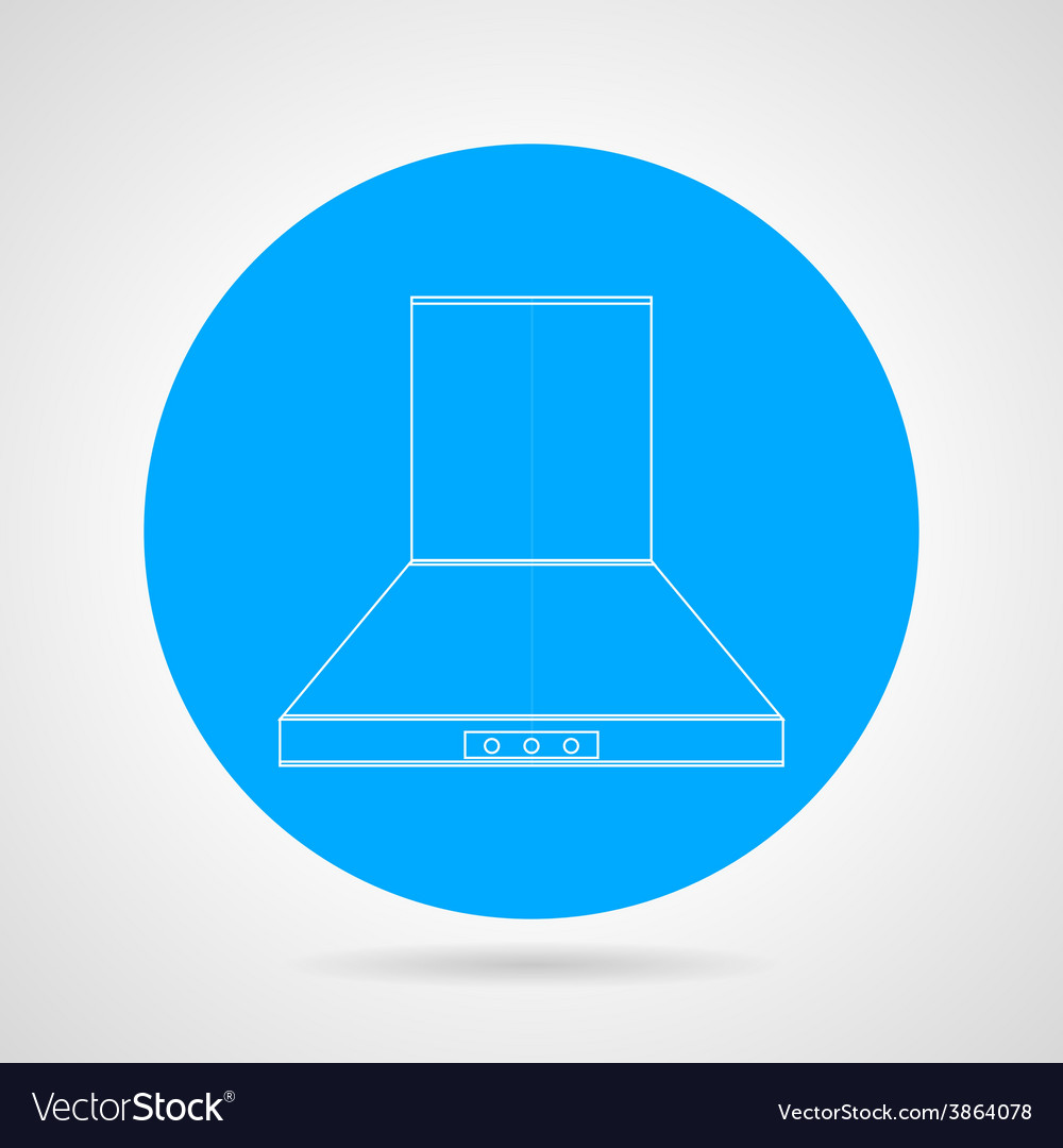 Flat icon for hood extractor vector
