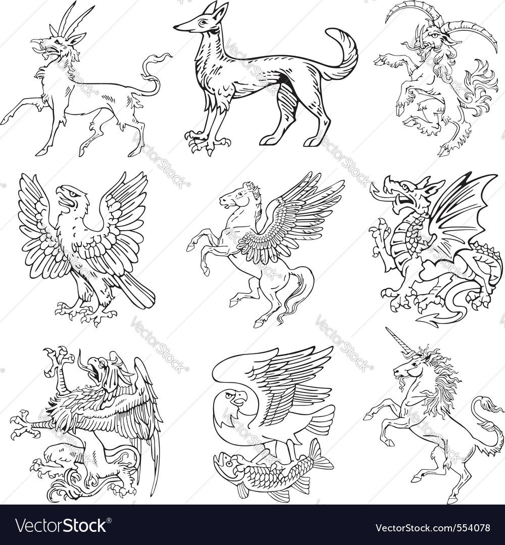 Heraldic monsters vol iv vector