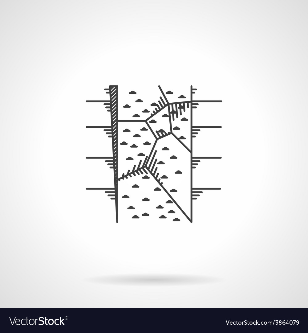 Flat icon for climbing wall vector
