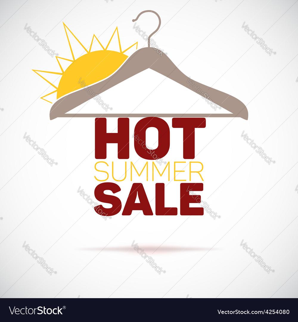 Hanger hot summer sale poster vector